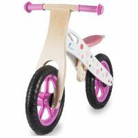 Rowerki biegowe, Rowerek biegowy INDIANA drewniany Różowy DARMOWY TRANSPORT