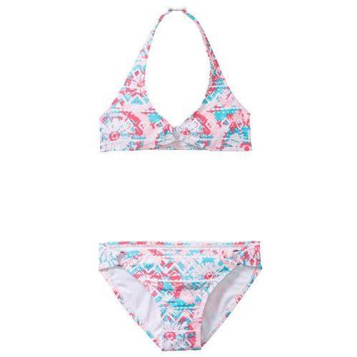 Stroje kąpielowe dla dzieci, Bikini dziewczęce (2 części) bonprix jasnoróżowy wzorzysty