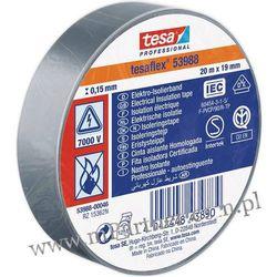 Taśma izolacyjna Tesa PCV 53988 19mm x 20m w folii szara
