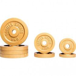 Zestaw obciążęń żeliwnych złoty 27,5kg