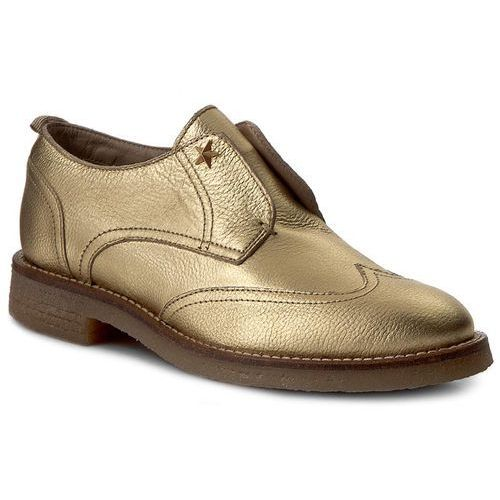 Półbuty damskie, Oxfordy TOMMY HILFIGER - Beritt 12Z FW0FW01413 Light Gold 704