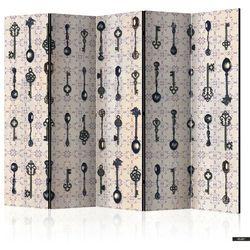 SELSEY Parawan 5-częściowy - Styl retro: Srebrne łyżki