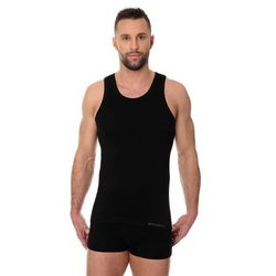 Bezszowa koszulka męska Brubeck Comfort Cotton TA00540 czarna