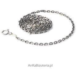 ankabizuteria.pl Srebrny łańcuszek anker oksydowany 0,75