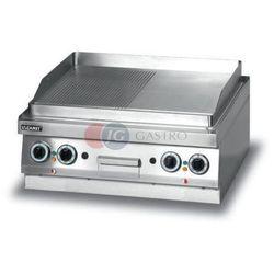 Grill płytowy elektryczny - płyta 1/2 ryflowana + 1/2 gładka dwie strefy grzewcze Lozamet linia 650 LEG625