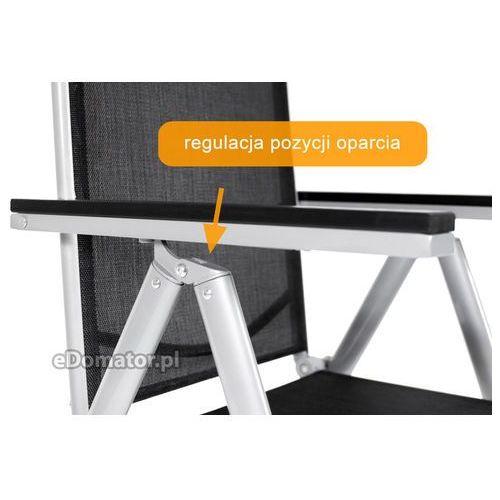 Krzesła ogrodowe, Krzesło ogrodowe składane aluminiowe MODENA - Czarne - czarny