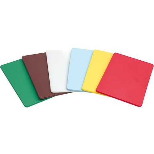 Deski kuchenne, Deska do krojenia z polietylenu 450x300 mm brązowa | STALGAST, 341456