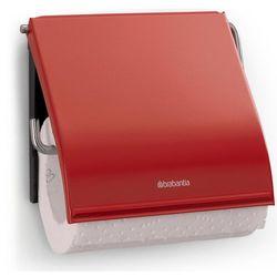 Uchwyt na papier toaletowy Brabantia CLASSIC stal szlachetna czerwona