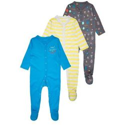mothercare FUTURE SCIENTIST SLEEPSUIT BABY 3 PACK Piżama brights multicolor