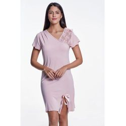 Bambusowa koszula nocna damska ZARA XL Różowy
