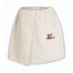 Sauna kilt ręcznik ecru 100% bawełna męski 50*140 z logo