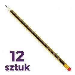 Ołówek z gumką 12 szt.