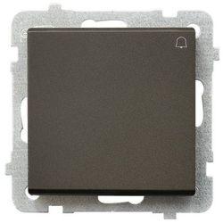 Przycisk dzwonek SONATA Ospel 10AX czekoladowy metalik IP20 ŁP-6R/m/40