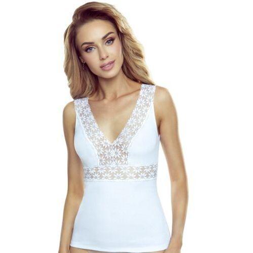 T-shirty damskie, Emma koszulka bawełniana damska Eldar Romantica Biała Jesienna 1 (-6%)
