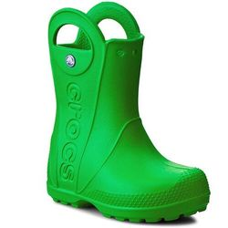 Kalosze CROCS - Handle It Rain Boot Kids 12803 Grass Green