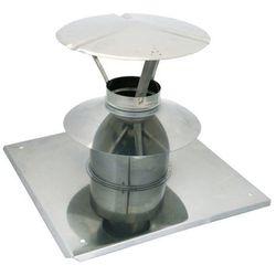 Wywiewka z płytą dachową Spiroflex 80/125 mm biała