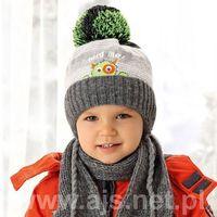Zestawy dodatków dla dzieci, AJS 38-480 Czapka+szalik komplet