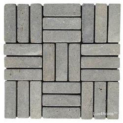 Lux4home parkiet kamień wulkaniczny szary (Black Candi) 30x30 cm
