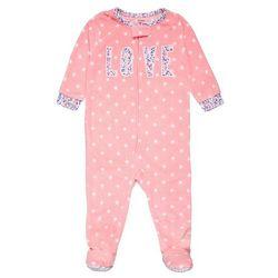 Carter's GIRL DOT WITH LOVE APP BABY Śpioszki pink
