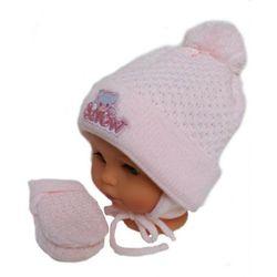 Zimowa czapka niemowlęca z szalikiem i rękawiczkami, rozmiar: 4 – 6 miesięcy