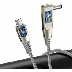 Kabel 2w1 Baseus Flash Series, USB-C do USB-C / wtyk zasilania DC 5.5x2.5mm, 100W, 2m (szary) -30% (-30%)
