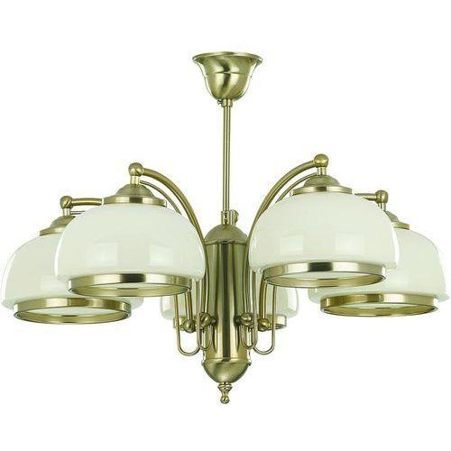 Lampy sufitowe, Lampa wisząca Alfa Lord 10445 żyrandol oprawa 5x60W E27 patyna