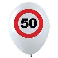 Balony, Balony Znak zakazu 50tka - 30 cm - 12 szt.