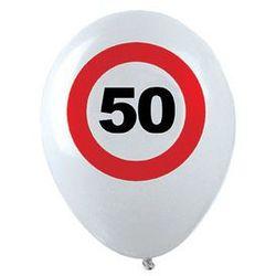 Balony Znak zakazu 50tka - 30 cm - 12 szt.
