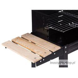 Grill ogrodowy półki kółka regulowany ruszt gril