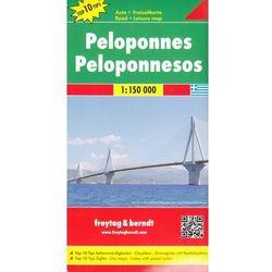 Peloponez / Półwysep Peloponeski 1:150 000. Mapa samochodowa, składana. Freytag&Berndt (opr. twarda)