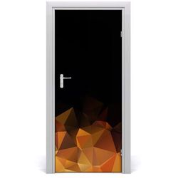Naklejka samoprzylepna na drzwi Abstrakcja trójkąty