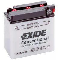 Akumulatory do motocykli, Akumulator motocyklowy EXIDE 6N11A-1B 6V 11Ah 95A EN P+