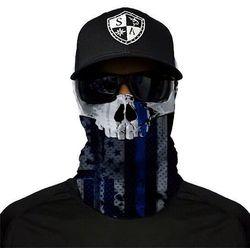 SA Co. Chusta Wielofunkcyjna Face Shield™ Thin Blue Line Skull - Thin Blue Line Skull