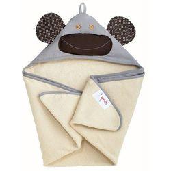 Ręcznik z kapturkiem 3 Sprouts - Szara Małpka 736211286192