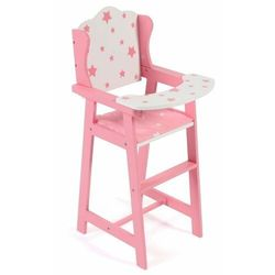 Bayer Chic krzesełko do karmienia dla lalek, gwiazdki różowe