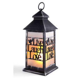 Lampion LED z napisem Live, Laugh, Love bonprix antracyt - shabby