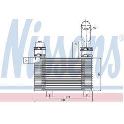 Chłodnica powietrza doładowującego - intercooler NISSENS 96649