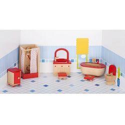 Mebelki do łazienki z czerownymi akcentami, 7 elementów
