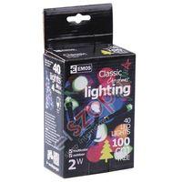 Ozdoby świąteczne, Lampki choinkowe 40 LED 4m multikolor ZY0811