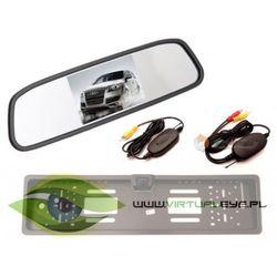 Bezprzewodowy Zestaw Kamera cofania + Monitor w lusterku