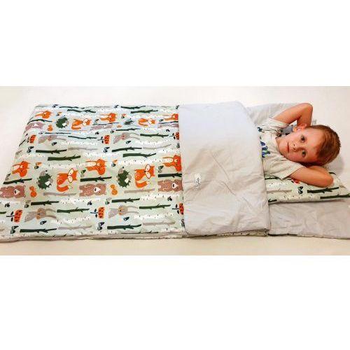 Śpiworki dziecięce, Śpiworek przedszkolaka 100% bawełna liski + worek