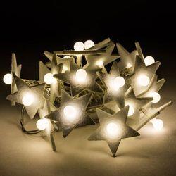Lampki dekoracyjne Gwiazda z perłą, 20 LED