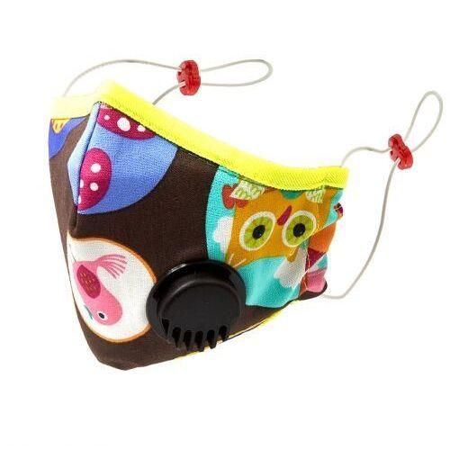 Maseczki i przyłbice ochronne, Maska D z filtrem i zaworem oddechowym HAPPY FLUO