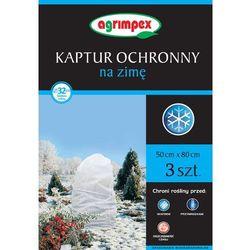 Agrowłóknina Kaptur ochronny 50x80 cm biały 3 szt.