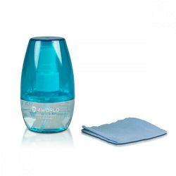 4world Zestaw czyszczący 50ml, ściereczka 15x15cm, niebieski