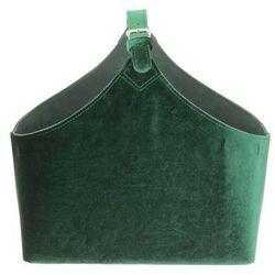 Dekoria Gazetnik Inez green 36x17x38cm, 36x17x38cm