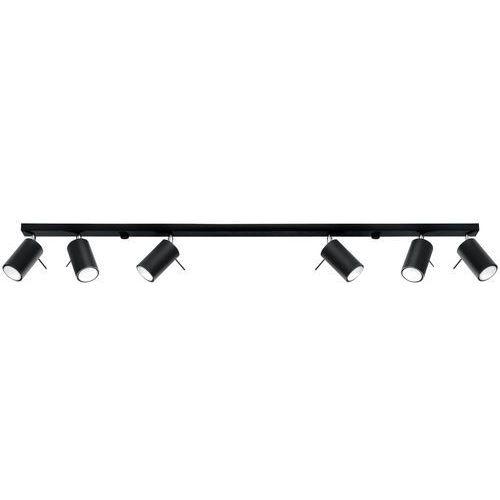 Lampy sufitowe, Sollux Ring 6L SL.0334 Plafon lampa sufitowa 6x40W GU10 biały >>> RABATUJEMY do 20% KAŻDE zamówienie!!!