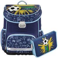 Tornistry i plecaki szkolne, Hama zestaw szkolny tornister + piórnik z wyposażeniem / Soccer - Soccer