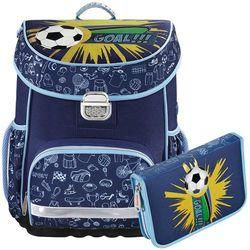 Hama zestaw szkolny tornister + piórnik z wyposażeniem / Soccer - Soccer