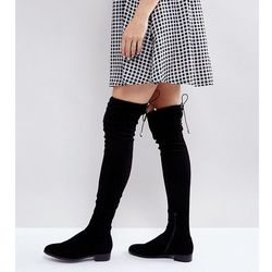 ASOS KEEP UP Flat Over The Knee Boots - Black